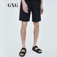 GXG短裤男装 夏季男士都市潮流时尚青年夏天修身黑色休闲短裤男潮