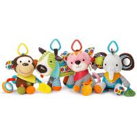 【摇摇铃】美国直邮 Skip Hop 婴儿车挂床挂摇铃 宝宝牙胶毛绒安抚玩偶手摇铃玩具 海外购
