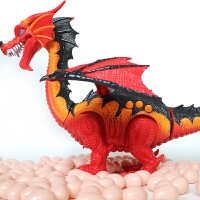 大号电动下蛋恐龙玩具儿童仿真动物模型遥控智能霸王龙男孩套装