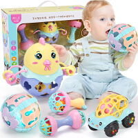 婴儿玩具软胶手摇铃0-3-6-12个月女宝宝男孩手抓女孩智力玩具