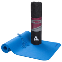 单色8mmTPE瑜伽垫 双面防滑健身运动垫子 183*61cm (含网包)