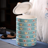 普洱茶叶罐多层套装 家用茶仓茶叶筒黑茶醒茶罐普洱茶道茶盒