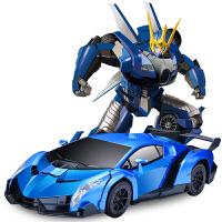 男孩礼物儿童玩具感应变形遥控汽车机器人充电动遥控车玩具