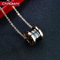 简约圆环彩金锁骨链女短款颈链项链情侣礼物饰品