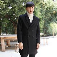 秋冬中长款毛呢大衣男士宽松帅气呢子外套韩版休闲学生风衣潮男装