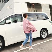 春季新款韩版学生字母T恤+棒球服短款外套+高腰牛仔裤三件套装女