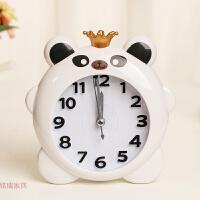 家居饰品 创意床头起床计时器 卡通动物皇冠塑料闹钟家居摆件钟饰 颜色混发