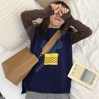 2018春装学生女装可爱仙人掌针织马甲背心套装+半高领T恤两件套潮