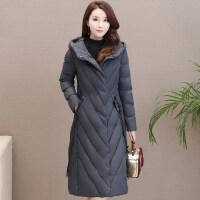 女冬季过膝加厚工装外套中长款棉袄韩版羽绒棉衣