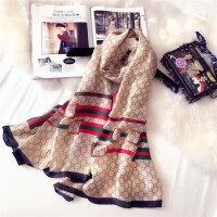 丝巾女夏季披肩 百搭长款纱巾新款 薄款两用沙滩春秋围巾