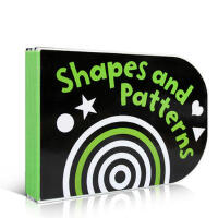 【全店300减100】英文原版 Black and White Shapes and Patterns: Chunky