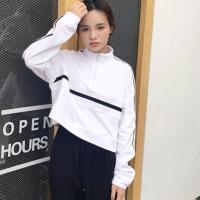 慈姑春秋女装韩版学院风短款长袖套头卫衣外套简约宽松显瘦学生上衣潮