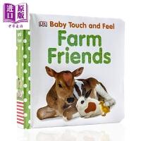 【中商原版】DK Baby Touch and Feel Farm Friends 农场朋友 儿童亲子阅读触摸纸板书 英