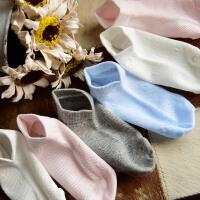 儿童宝宝薄款网眼纯色收口短帮袜子船袜 T