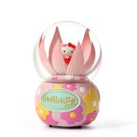 hellokitty水晶球摆件 女生儿童礼物可爱八音盒音乐盒