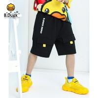【4折价:99.6】B.duck小黄鸭童装男童针织五分裤 BF2152906