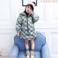 女童棉衣2018新款儿童冬装加厚中长款宝宝面包服女孩棉袄外套