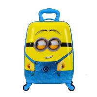 儿童拉杆箱18寸小学生卡通拉杆书包凯蒂猫小黄人16寸硬壳行李箱 明黄色 18寸小黄人