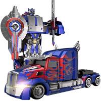 �和��b控�形金��玩具汽��C器人模型超大男孩玩具