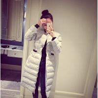 慈姑2017新款韩版修身羽绒女中长款棉衣服外套加厚时尚学生大码潮