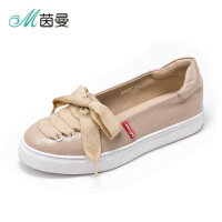 Y茵曼女鞋18年春季运动鞋小白鞋平底休闲鞋单鞋女4882013061B