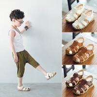 新款男童凉鞋包头夏季儿童沙滩鞋子中小童宝宝凉鞋潮