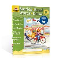 英文原版 Stories To Read Words To Know - Level D (Grade 1)英语教材小
