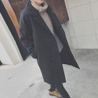新款2018冬�b中�L款毛呢大衣外套男士�n版��松呢子�L衣休�e保暖披