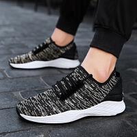 休闲鞋男鞋跑步鞋飞织网面男士运动鞋旅游轻便百搭学生慢跑鞋子