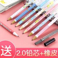 天卓HB自动铅笔2.0mm粗芯笔芯按动式套装小学生儿童用2B书写原木铅笔写不断笔芯免削幼儿园可爱卡通活动铅笔