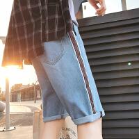 男士港风夏季牛仔裤新款潮流短裤休闲裤子学生个性宽松五分裤