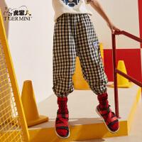 小虎宝儿童装男童防蚊裤薄款夏季2020新款儿童运动长裤中大童韩版