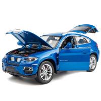1:24仿真男孩玩具车SUV汽车模型彩珀X6越野车合金车模