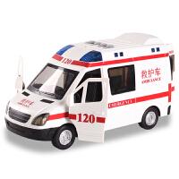 救护车玩具120救护车音乐故事大号儿童110警车玩具男孩警察车