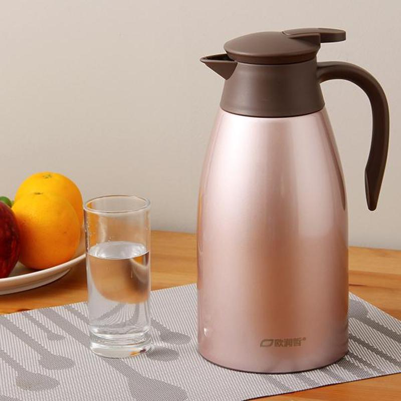 【满减】欧润哲 304不锈钢内胆保温壶 加高家用欧式保温壶开水暖瓶暖壶热水瓶