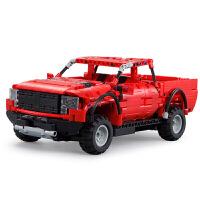 皮卡车科技机械组越野车电动遥控拼装组装玩具