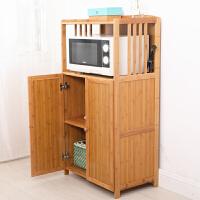 置物架子带门实木架烤箱架子收纳层架储物柜