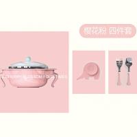 儿童餐具套装宝宝注水保温碗婴儿碗勺套装辅食碗防摔不锈钢吸盘碗M