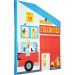 英文原版绘本 Twirl Firehouse Play-Go-Round 纸板书 小小消防队场景造型互动玩具书 含16