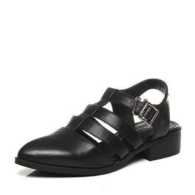 Tata/他她春季小牛皮女凉鞋2PK01AH6