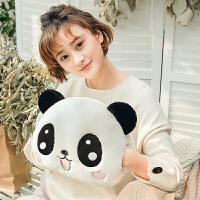 熊猫暖手抱枕捂手枕毛绒玩具插手冬季可爱睡觉娃娃女生午睡枕手捂