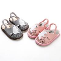 宝宝拖鞋儿童室内家居鞋透气地板鞋防滑卡通婴儿拖鞋
