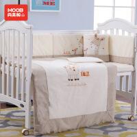 月亮船宝宝纯棉床围十件套婴儿床上用品儿童床品可拆洗春夏秋冬款