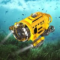 �b控核迷你可�z像拍照�和���油婢哌b控船�~模型水下�o人�C定制 新款新包�b拍照��水艇 新款特惠