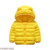 冬季2019新款��好抟履����冬�b�和��p薄保暖小童女����棉�\外套秋冬新款 �S色 80cm