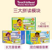 【全店300减100】自然拼读指读卡 Touch&Read:Phonics Word Match 英文原版进口 英文单词