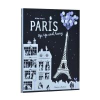 【预订】Paris Up, Up and Away巴黎世界 立体剪纸艺术黑白纸艺书