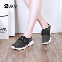 【低价秒杀】jm快乐玛丽春季新款时尚平底舒适运动风套脚休闲女鞋子