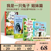 英文原版绘本0 3岁 I am a Kitten/PUPPY/Mouse 我是一只兔子 I am a Bunny 系列 英语启蒙早教纸板书 4册合售 亲子互动