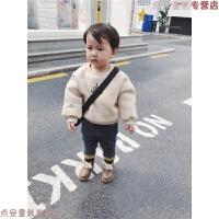 2018新款童装宝宝加绒卫衣1-3岁男童打底衫长袖冬款儿童卡通上衣